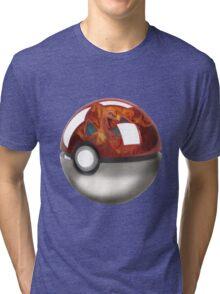 Pokeball Crystal Ball - Charizard Tri-blend T-Shirt