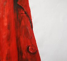 Vintage Red Jacket Home Decor Acrylic Contemporary Painting by JamesPeart