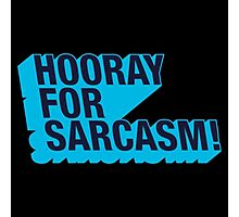 Sarcasm! Photographic Print