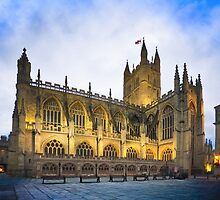 Golden Dusk at Bath Abbey by Mark Tisdale