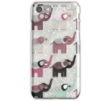 Baby Elephant Walk - Bohemian Style by Chocolate River Brand iPhone Case/Skin