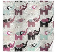 Baby Elephant Walk - Bohemian Style by Chocolate River Brand Poster