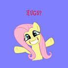 Hugs for Fluttershy by Rhiaxxify