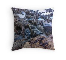 Narooma Rocks 1 Summer edition Throw Pillow