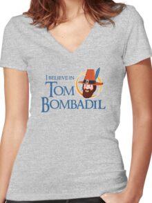I believe in Tom Bombadil Women's Fitted V-Neck T-Shirt