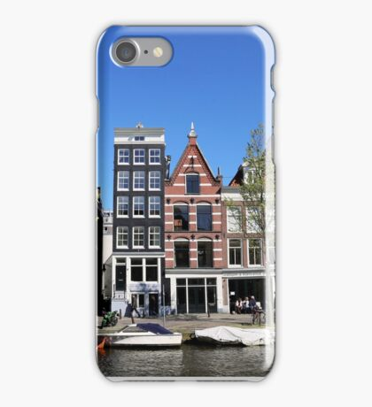 Canal Houses on the Prinsen Gracht, Amsterdam iPhone Case/Skin