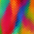 Colorful Modern Geometric Diamond Pattern by Nhan Ngo