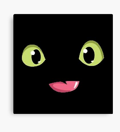 Toothless Poking out Tongue  Canvas Print