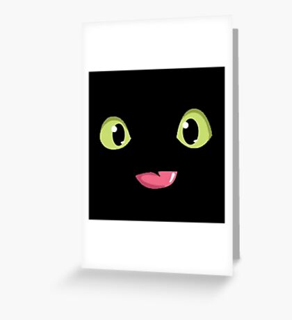 Toothless Poking out Tongue  Greeting Card