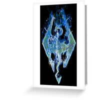 Skyrim - Frost Dragon Greeting Card