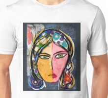 Portrait of a mystique girl Unisex T-Shirt