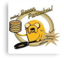 Makin Bacon Pancakes - Adventure Time Jake Canvas Print