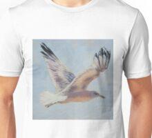 Seagull in flight. Elizabeth Moore Golding 2010  Unisex T-Shirt