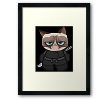 Grumpy Ninja Cat Framed Print