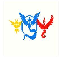 Pokemon Go All Teams Art Print