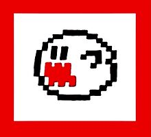 Pixel Mario Bros. Ghost by callmeJkay