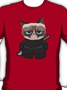 Grumpy Ninja Cat T-Shirt