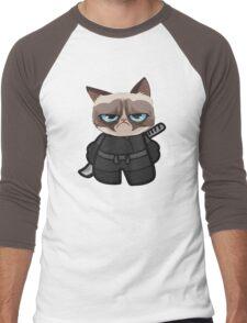 Grumpy Ninja Cat Men's Baseball ¾ T-Shirt