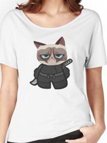 Grumpy Ninja Cat Women's Relaxed Fit T-Shirt