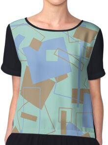 60's Style in Fashion Colors Var 4 Chiffon Top