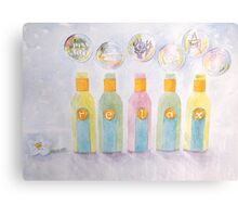 Relax bottles and bubbles Canvas Print