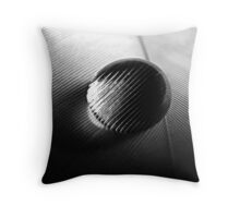 A drop on a feather, bw Throw Pillow