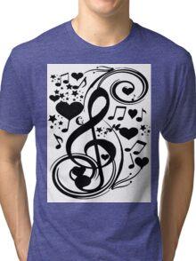 Love Beats_ Tri-blend T-Shirt