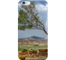 Half a tree and a mountain view iPhone Case/Skin
