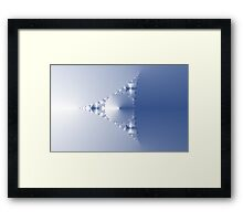 Blue Triangle Thing Framed Print