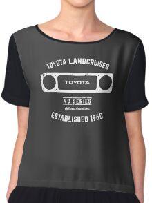 Toyota 40 Series Landcruiser Square Bezel Est. 1960 Chiffon Top
