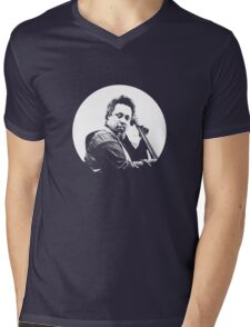 mingus portrait  (for dark background) Mens V-Neck T-Shirt