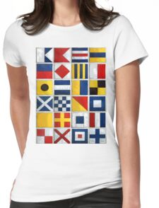 nautical flags Womens Fitted T-Shirt