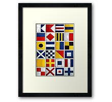 nautical flags Framed Print