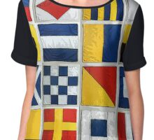 nautical flags Chiffon Top