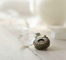 Vintage pocket watch and the ribbon by JBlaminsky