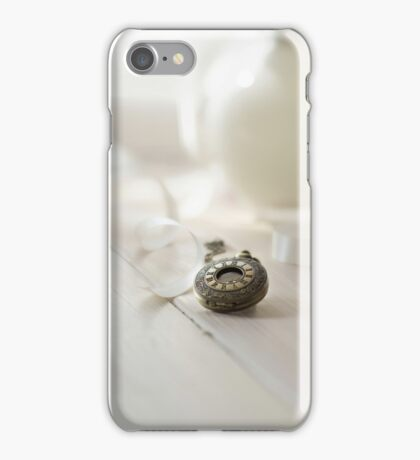 Vintage pocket watch and the ribbon iPhone Case/Skin