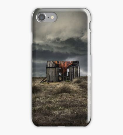 Old forgotten shade with red fish net iPhone Case/Skin