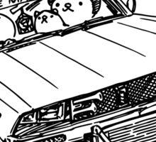 Crazy Car Art 0102 Sticker