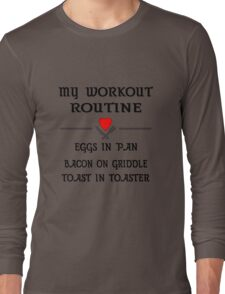 Breakfast Workout Routine Girls Muscle Top Long Sleeve T-Shirt