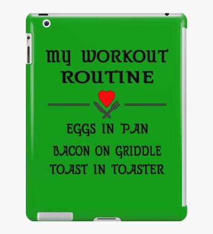 Breakfast Workout Routine Girls Muscle Top iPad Case/Skin