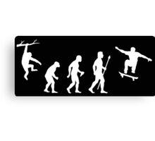 Evolution Of Man Skateboarding Canvas Print