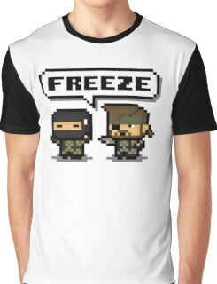 "-METAL GEAR SOLID- Pixel ""Freeze"" Graphic T-Shirt"