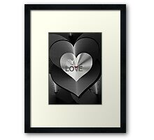 LOVE SPEECH, spread the word Framed Print