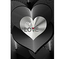 LOVE SPEECH, spread the word Photographic Print