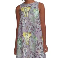 Elephant Garden A-Line Dress
