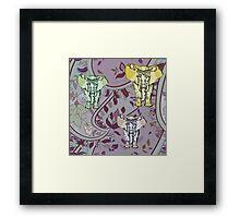 Elephant Garden Framed Print