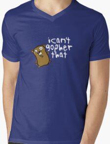 I Can't Go-pher That Funny Pun Mens V-Neck T-Shirt