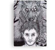 Werewolf Will (bw) Canvas Print