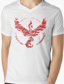 Team Valor Scribble Mens V-Neck T-Shirt