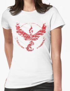 Team Valor Scribble Womens Fitted T-Shirt